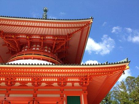 Koyasan, Temple, Buddhism, Japan, Building