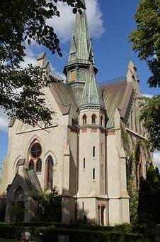 Neogothic, Church, Orlunda, Sweden, Church Window