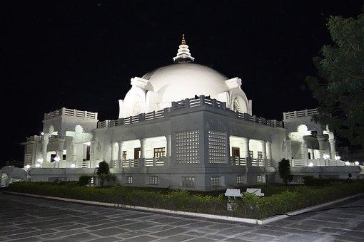 Buddha Vihar, Night View, Gulbarga, Karnataka, India