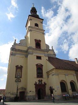 Trnava, Church, Slovakia, Monument, Cross, Tower, Old