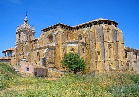 Pallencia, Spain, Building, Church, Architecture, Sky