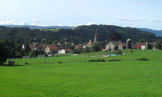 Switzerland, Donneloye, Landscape, Scenic, Sky, Clouds
