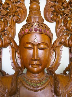 Buddha, Wood, Sculpture, Statue, Carving, Spiritual