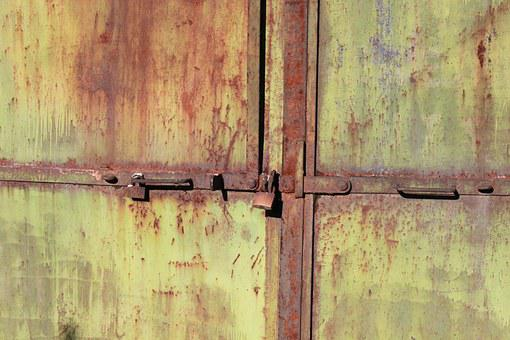 Door, Industrial, Iron, Metal, Old, Rusty, Warehouse