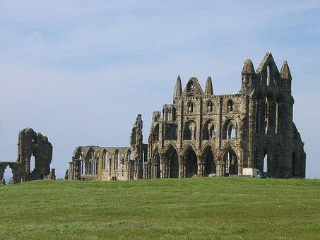 Whitby, Abbey, Old, Ruins, Yorkshire, England, Ancient
