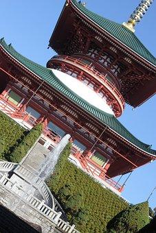 Japan, Temple, Narita, Zen, Architecture, Building