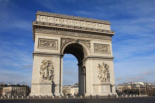Paris, France, Arc De Triumph, Architecture, Europe