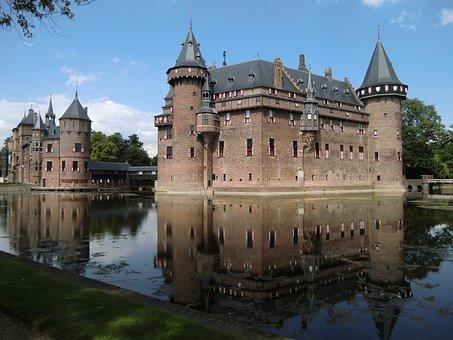 Castle, Netherlands, De Haar, Architecture, Landmark