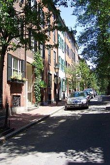 Beacon Hill, Boston, Urban, Road, Architecture