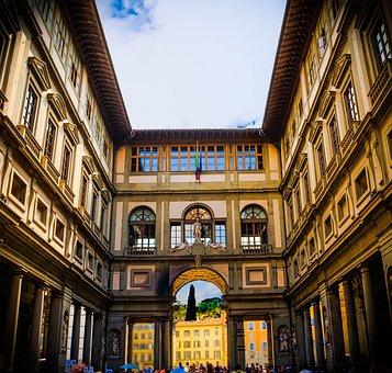 Florence, Italy, Uffizi Gallery, Architecture, Museum