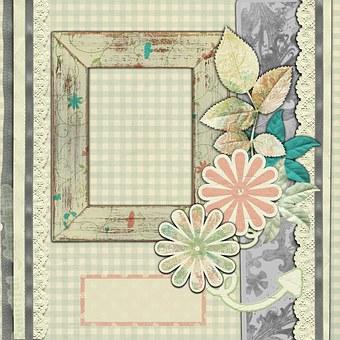 Background, Sepia, Scrapbook, Template, Retro, Pink