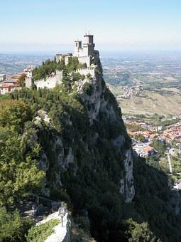 San Marino, Castle, San, Marino, Italian, Tower