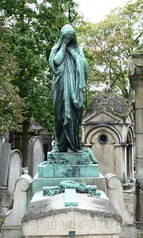 Pere Lachaise, Paris, Monument, Cemetery, Mourning