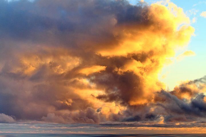 Clouds, Sunset, Sea, Beach, Colors, La Palma, Brand