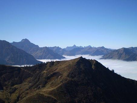 Hip Things Horn, Allgäu, Oberallgäu, Alpine, Deep Mist