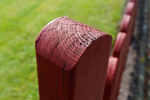 Fencing, Cornerstone, Paling, Limit, Wood, Red Brown