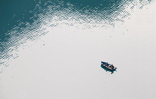 Fishing Boat, Fish, Lake, Bergsee, Lake Oeschinen