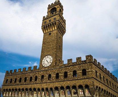 Uffizi Tower, Florence, Italy, Piazza Della Signoria