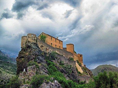 Citadelle De Corte, France, Landmark, Historic, Castle
