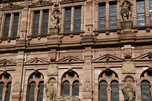 Friedrichsbau, Castle, Heidelberg, Germany, Facade