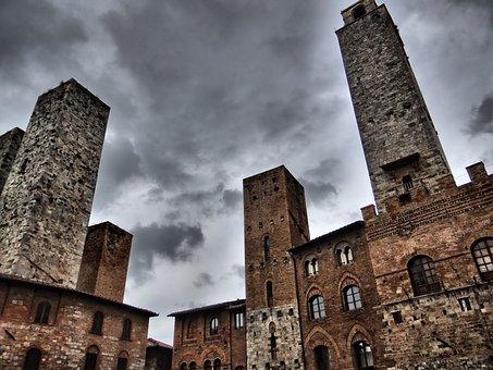 San Gimignano, Towers, Tuscany, Historically, Italy