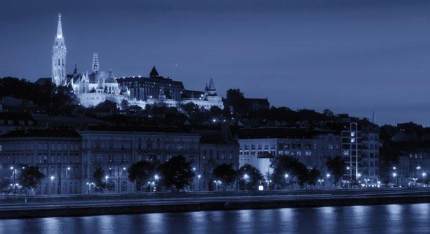 Budapest, Hungary, Castle, Buildings, Landmark, Sky
