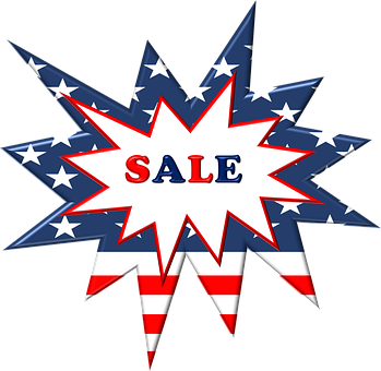 Sales, Label, Patriotic, Holiday, July 4th, Fourth