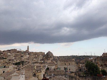 Italy, Matera, Skyline, City, Cityscape, Landmark