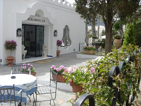 Capri, Italy, Hotel Terrace, Architecture, Landmark