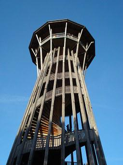 Tower, Sauvabelin, Lausanne, Switzerland, Wooden Tower