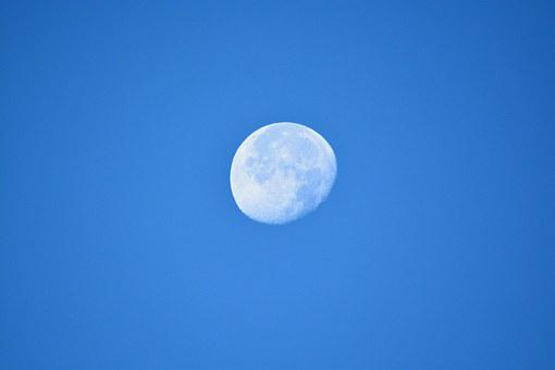 Moon, Blue, Lionnel, Sky, Full Moon, Night