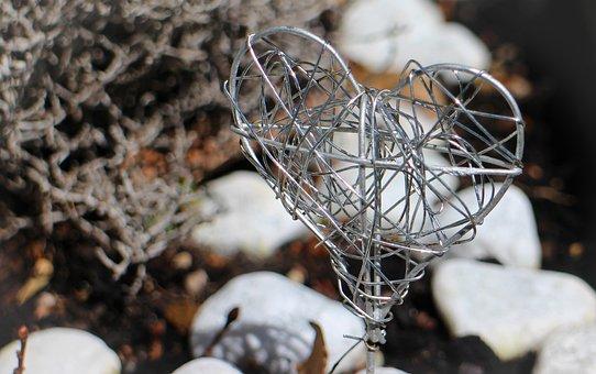 Heart, Symbol, Love, Metal Braid, Deco, Wire, Wire Mesh