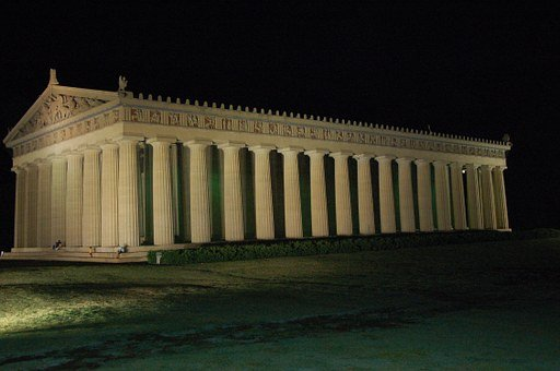Parthenon, Nashville, Tennessee, Night, Column