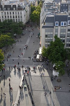 Paris, Center George Pompidou, Outside, Tourism