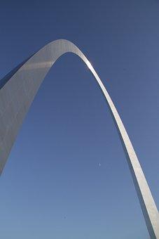 St Louis, Arch, Monument, Gateway, Architecture, Metal