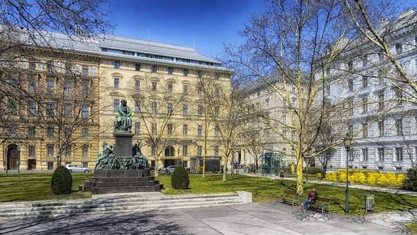 Vienna, Austria, Beethoven Plaza, Building, Monument