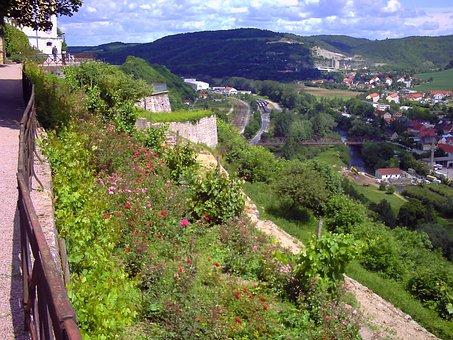 Castle Terrace, Flowers, View