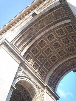 Arch Of Triumph, Angle, Architecture, France, Paris