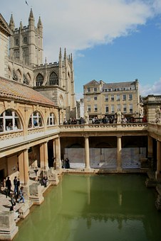 England, Roman, Baths, Architecture, Building, Landmark