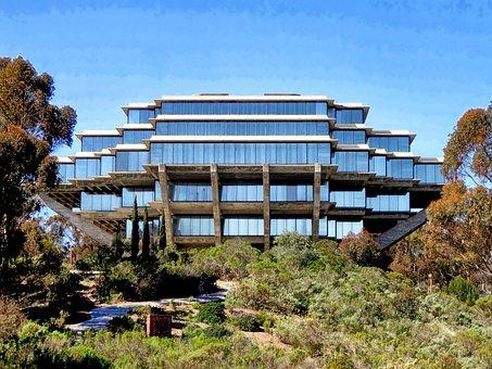 Geisel Library, San Diego, California, Scenic, Building