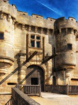 Chateau De Hautefort, Dordogne, France, Castle
