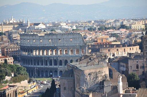 Rome, Colosseum, Ruins, City, Roman, Italy, Europe