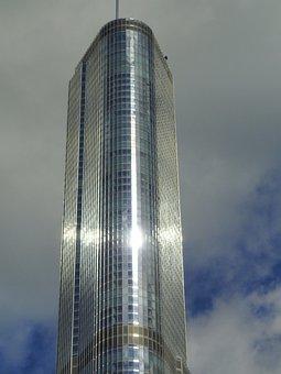 New York City, Skyscraper, Building, Sky, Clouds