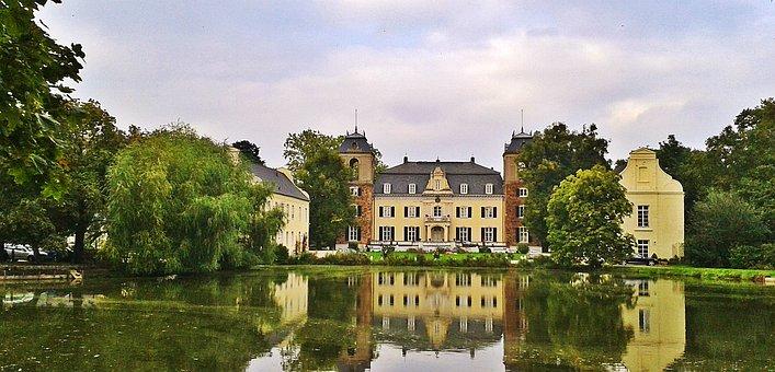 Eifel, Euskirchen, Germany, Moated Castle, Lake, Hotel