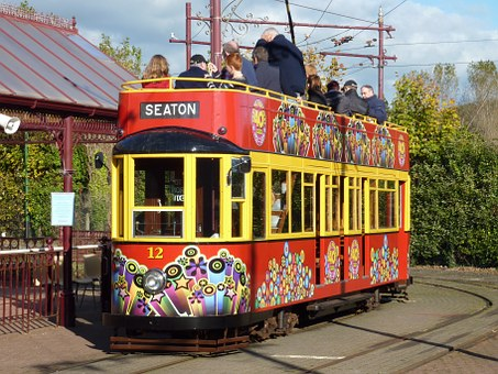 Seaton, Devon, Trolley, England, British, English, Uk