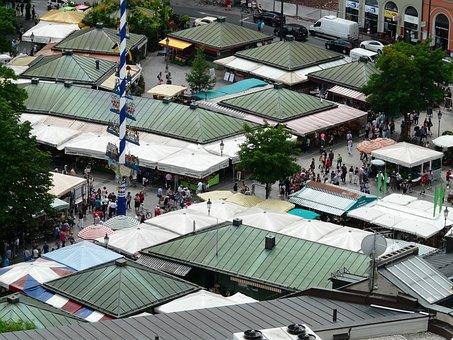 Viktualienmarkt, Market, Food Market, Food, Victuals