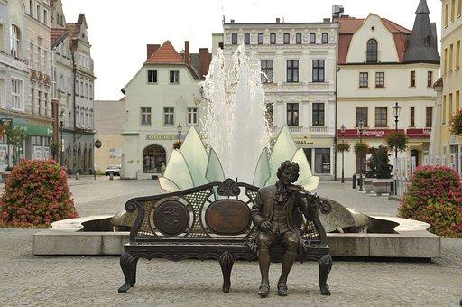 żary, Georg Philipp Telemann, Monument, Fountain