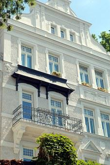House, Historical, Facade, White, Villa, Balcony