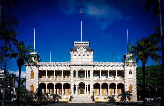 Honolulu, Hawaii, Iolani Palace, Landmark, Historic