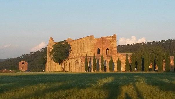 San Galgano, Abbey, Tuscany, Italy, History